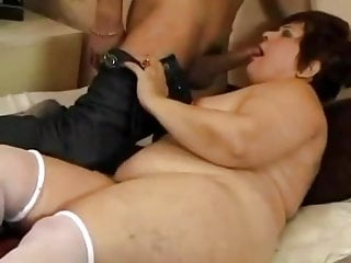 Mature loves young cock in her ass...