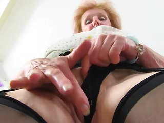 Busty granny piercing in old...