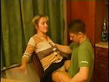 Russian Mature Mom and friend her son! Amateur!