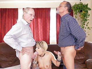 Presley Carter Gives Blowjob And Fucks Grandpa