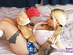 Aviva Rocks - Female With Hugh Titts Playing With A Teddy-bear