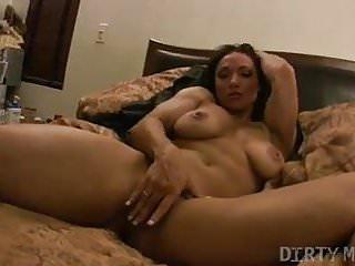 BrandiMae Gets Naked Goes To Bed Masturbates