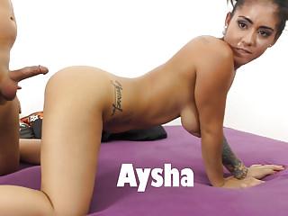 Busty Aysha got her pussy demolished