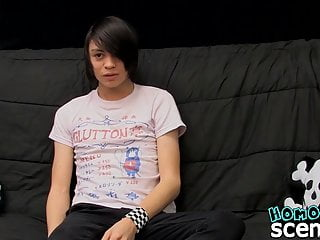 Interview with emo twink gone sexual with anal penetration