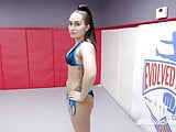 Gabriella Paltrova lesbian wrestling sex vs newcomer