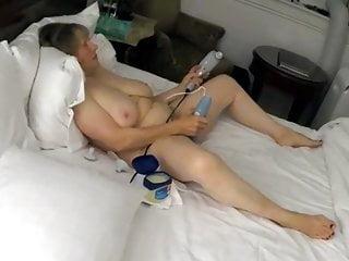 Sexy grandma MarieRocks gets herself off