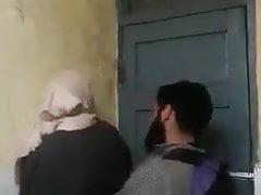 Hijab sister fucked in university bathroom