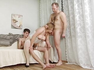 MTHRFKR-Dad and Son Take Turns With Roasting hot Hot milf