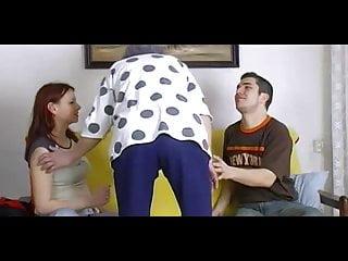 Naked couple and horny grandma playing and masturbating...