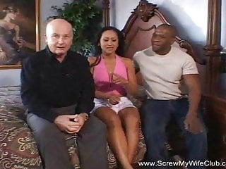 Interracial Swinging A tIts Finest Together with Hubby