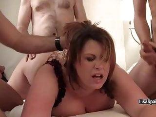 bbw lisa sparxxx gangbanged and showered in cumporno videos