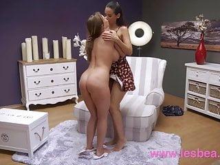 Lesbea Big tits babe Josephine Jackson licks lovely Latina