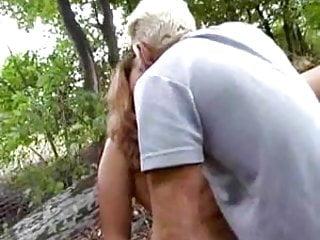 Chubby german an older man woods...