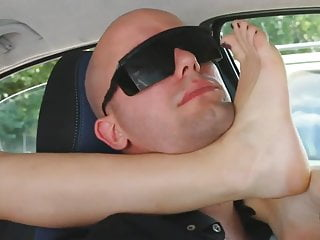 UNP001 Brat Car Italian Girl Foot Smothering Man