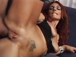 Skinny RedHead MILF Barbara Gandalf Anal Sex With Young Guy