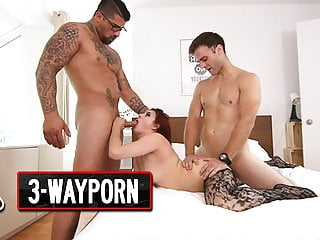 3-Way Porn – Threesome for a Young Redhead