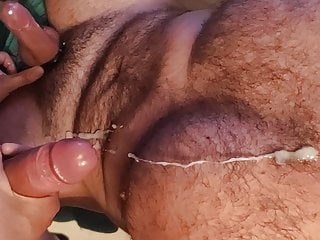 my top man cums on my hairy chests huge load