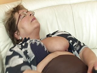 Chubby grandma wants his cock