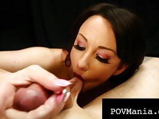 Hot dick sucking jennifer white blows throbbing cock...
