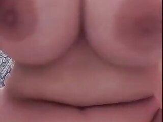 Egyptian Milf shows big boobs and masturbates