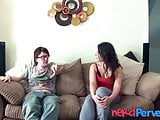 Lingerie babe Chantelle Coleman filmed sucking cock by nerd