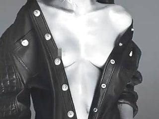 Miley cyrus naked nipple w magazine...