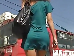 Ass delicius  in Green Mini Dress
