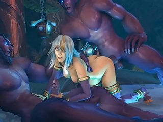 Jaina Elves Night with threesome
