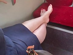 German Cougar Soles In Bus Uber-cute Crimson Toes
