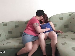 Chubby housewife fuck the girl next door