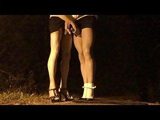 Transvestite nighttime encounter .