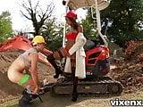 Sexy inspector Katia bubble butt outdoor anal sex