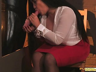 The Swinger Experience Presents Cfnm wanks restrained sub before swapping