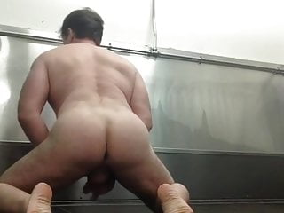 A compilation of naked wanking sessions in public restrooms