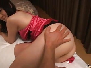 Two Japanese dolls fuck a horny guy in a motel room