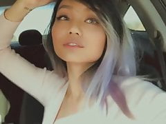 Asian Girls Kissing in car