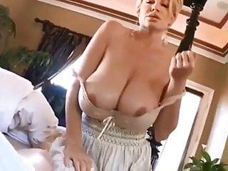Kinky amateur MILF, Tits Fuck in POV