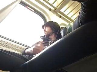 Hot jerk on the train