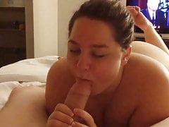 Cutie sucking dick and sucks on balls