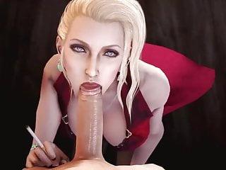 Scarlet sexy blowjob...