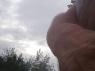 Flashing dick, Jerking naked at the lake & near the road