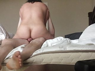 Chubby Asian Wife On Top Riding Cock Big Ass