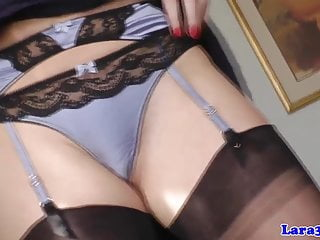 British posh cougar in lingerie pulls young bloke...