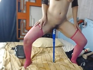 Hot Brunette Wildly Fucks Her Ass and Cunt