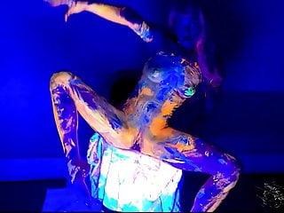 Bodypaint light show