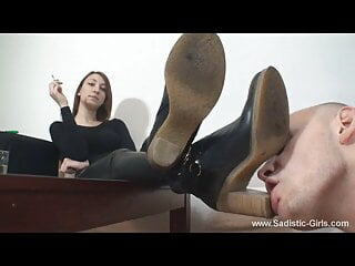 Dirty boots worship