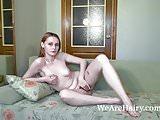 Laura Antonitta masturbates on her sofa