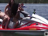 Teens Ride the Party Boat video starring Eva Saldana - Mofos