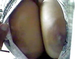 Groping big boobs of Indian housewife-2