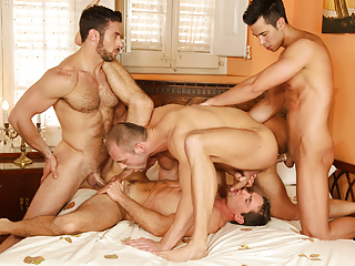 Orgy with plenty of action...
